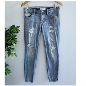 Odd Molly Women's Size 1 (10 AUS) Skinny Jeans Distressed Blue